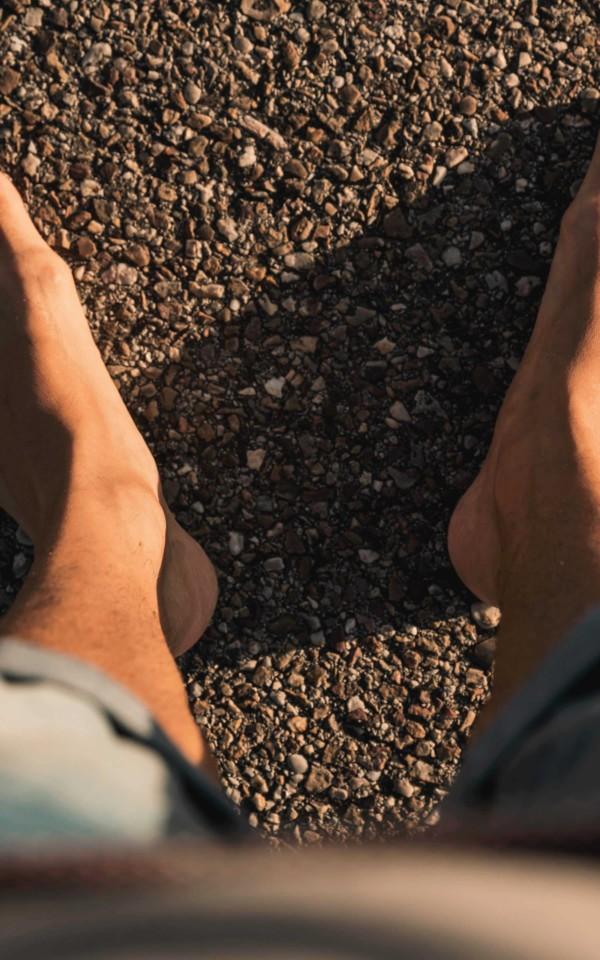 地に足がついている